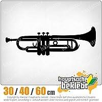 Trumpet - 3つのサイズで利用できます 15色 - ネオン+クロム! ステッカービニールオートバイ