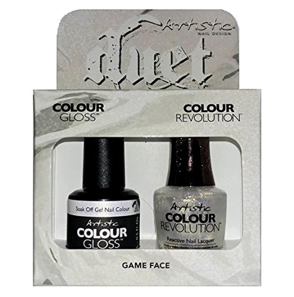 マディソン古風な座標Artistic Nail Design - Duet Gel & Polish Duo - Game Face - 15 mL / 0.5 oz each
