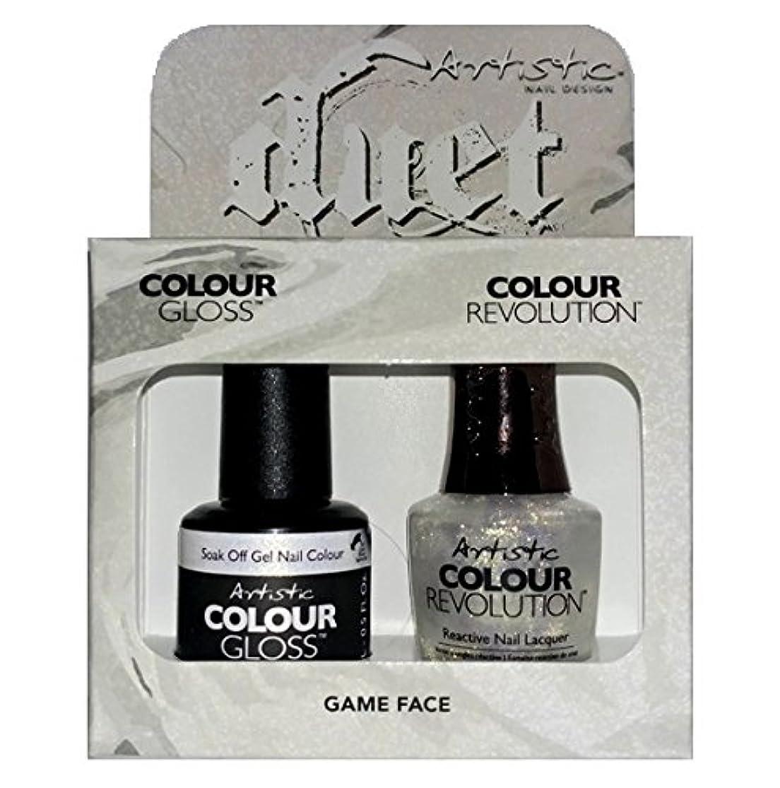 懸念徴収ジムArtistic Nail Design - Duet Gel & Polish Duo - Game Face - 15 mL / 0.5 oz each