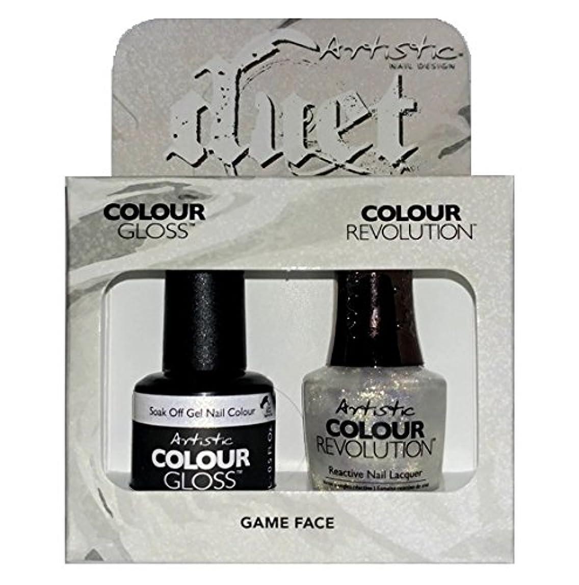 オーバードローみ無視Artistic Nail Design - Duet Gel & Polish Duo - Game Face - 15 mL / 0.5 oz each
