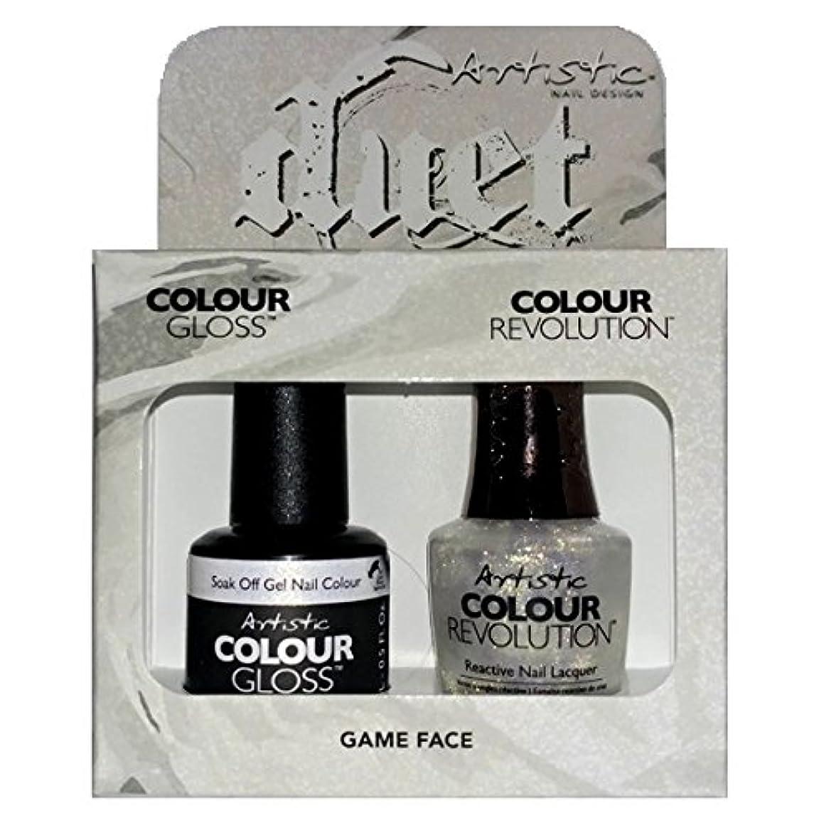 つづりさようなら素朴なArtistic Nail Design - Duet Gel & Polish Duo - Game Face - 15 mL / 0.5 oz each