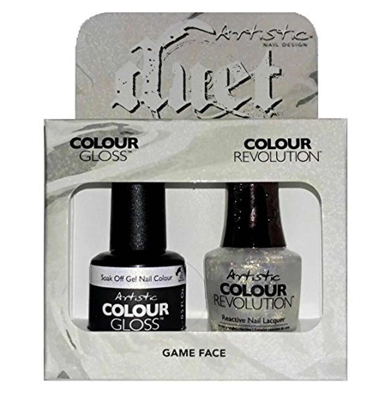 ボウリング大使館ピグマリオンArtistic Nail Design - Duet Gel & Polish Duo - Game Face - 15 mL / 0.5 oz each