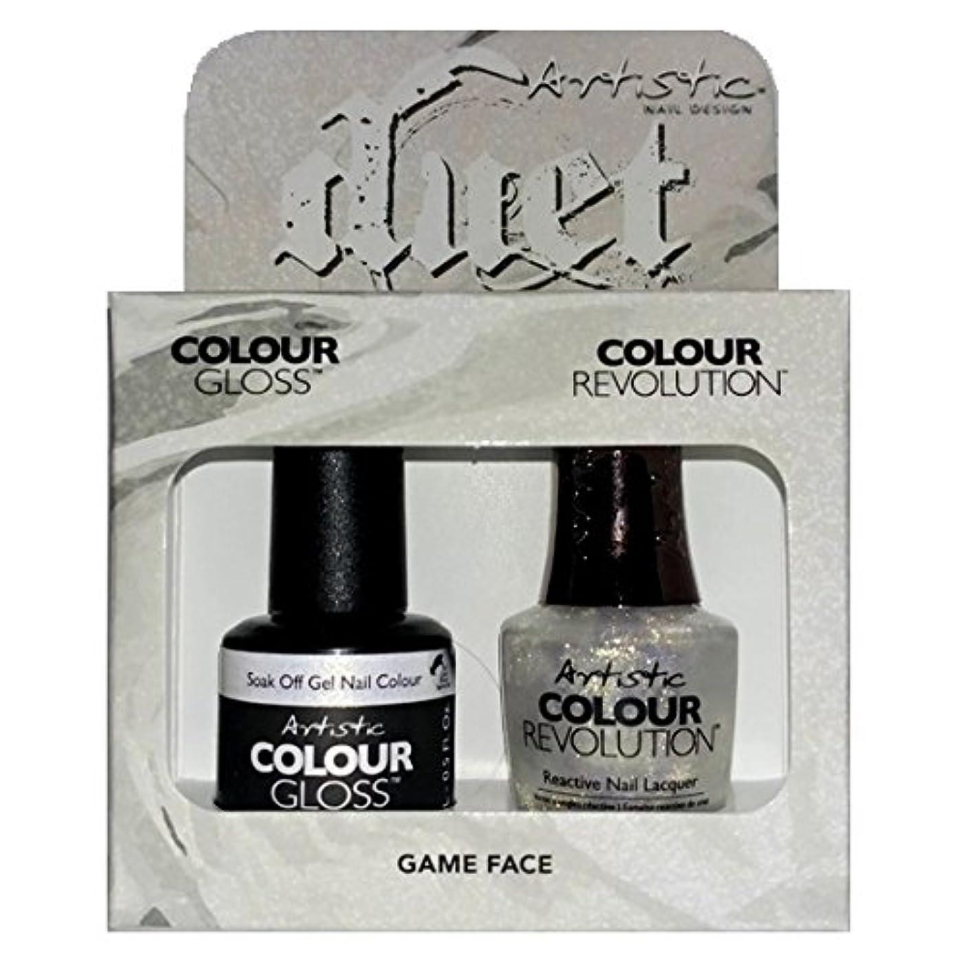 センサー枯渇するからArtistic Nail Design - Duet Gel & Polish Duo - Game Face - 15 mL / 0.5 oz each