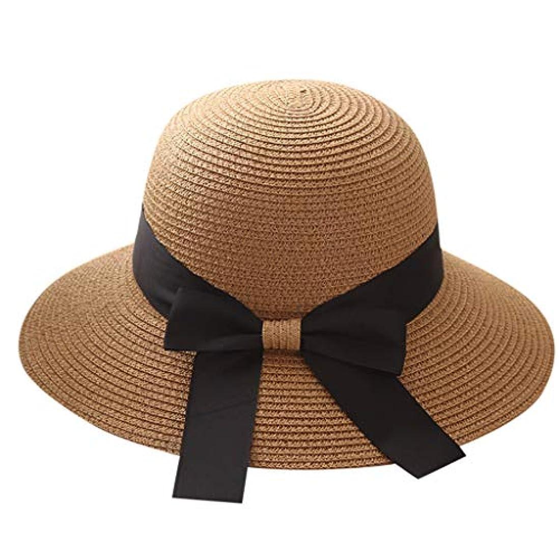 慎重にについて一時停止帽子 レディース UVカット 漁師帽 99%uvカット 日よけ 日焼け防止 熱中症予防 折りたたみ つば広 紫外線対策 麦わら帽子 uv帽 小顔効果 おしゃれ 可愛い 女優帽 高級感 軽量 通気 旅行用 大きいサイズ ROSE...