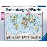 Ravensburger Political World Map Puzzle 1000pc,Adult Puzzles