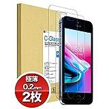 【2枚セット】iPhone SE / 5S / 5 / 5C 強化 ガラスフィルム 【極薄0.2mm】 日本旭硝子製 (硬度 9H) 液晶保護フィルム NEWLOGIC