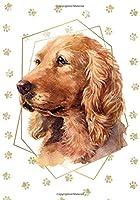 English Cocker Spaniel Dog Portrait Notebook -- Creative Journal: 7x10, Cream Paper, 5mm Dot Grid, 184 Pages