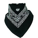 BOOLAVARD 100% Cotton 1pcs, 6pcs or 12pcs Pack Bandanas with Original Paisley Pattern Colour of Choice Headwear/Hair