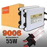 Engync HID交換用キット AC 9006 (HB4) 4300K 55w極輝型バルブ プレミアム薄型バラスト プロ推奨Hi/Low対応 高速点灯 3年保証
