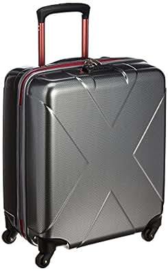 [ヒデオワカマツ] HIDEO WAKAMATSU スーツケース マックスキャビン 50cm 40L 機内持ち込み可 ポリカーボネート100% Amazon限定カラー 85-95760 4 (カーボンシルバー)