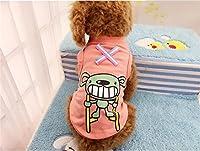 春と夏の新しい犬のベストの漫画のパターンかわいい犬のベストペット犬の服\犬 レインコート\ペット服\犬 洋服