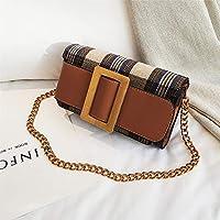 CMNB バッグ 上の新しいバッグの女性新金の潮の韓国版のチェーンの小さい方の包みの肩のの超火の赤いショルダーバッグ,茶色