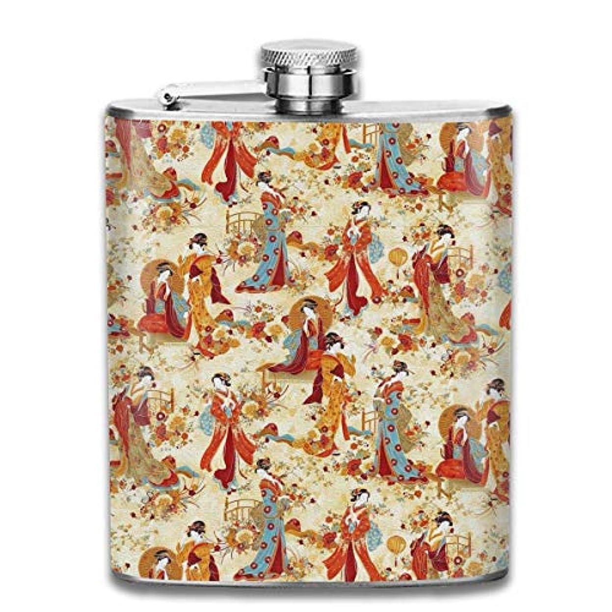 困惑望まないストロー美人フラスコ スキットル ヒップフラスコ 7オンス 206ml 高品質ステンレス製 ウイスキー アルコール 清酒 携帯 ボトル