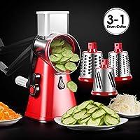 スパイラライザー 野菜スライサー 3ブレード スピーディー回転ドラム おろし器 野菜 果物 カッター チーズシュレッダー用