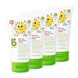 Babyganics Travel Size Sunscreen Lotion 50 SPF, 2oz, 4 Pack, Packaging May Vary