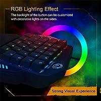 キーボード有線マルチカラーキーボードシングルハンドメカニカルキーボードRGBカスタムキーボードゲームキーボードプログラマブル/バックライト付きUSBポートPowered