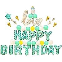 Funpa 風船 バルーン ベビシャワー 40cm 100日 1歳 可愛い お誕生日 部屋 会場 パーティー デコレーション 飾り付け 豪華セット アルミ箔 全13タイプ