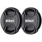 RVp 2- Pack 77mmセンターピンチスナップオンレンズキャップfor Nikonレンズ交換用for LC 77