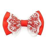 (KEEP YOU) リボン パーツ サテン&レース 同色5個セット ハンドメイド用 パーツ p-ribbon-13