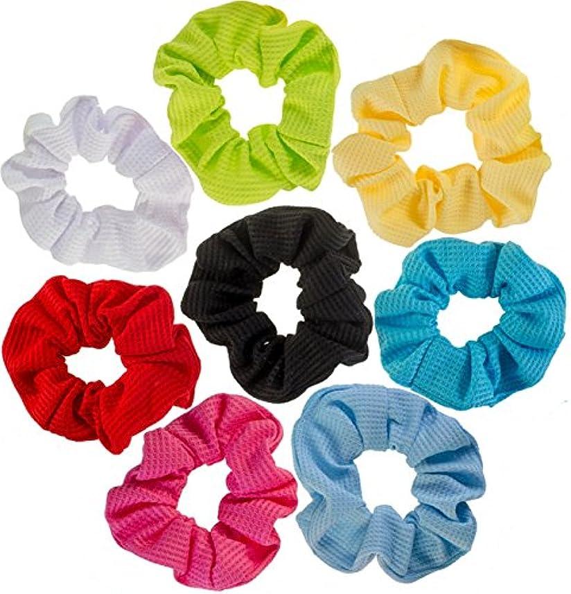 イディオム天国硫黄Orient Direct 女性と女の子のための髪のScrunchies 8個の簡単な練習の髪のへそ