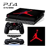 ジョーダン [PS4] ShoeBox #4 Air Jordan 3 Retro Shoe Box Whole Body VINYL SKIN STICKER DECAL COVER for PS4 Playstation 4 System Console and Controllers by Ci-Yu-Online [並行輸入品]