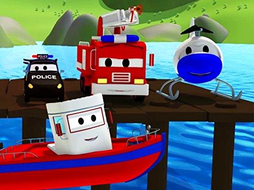 動けなくなったボビー&トラーコースターが危ないそして, 消防車とパトカーのカーパトロール|子供向けのカー&トラックアニメ
