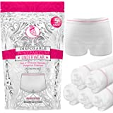 Ninja Mama Disposable Postpartum Underwear (Without Pad) Soft, Stretchy, Shorts Cut, Washable Mesh Panties for Women (5 Count