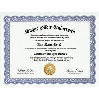 Sugar Glider Degree: Custom Gag Diploma Doctorate Certificate (Funny Customized Joke Gift - Novelty Item) by GD Novelty Items [並行輸入品]
