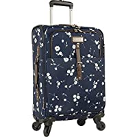 "Chaps 20"" Expandable Carry on Spinner Luggage Navy Ditzy Floral"