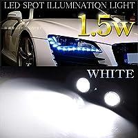 ボルト型 LEDスポットライト カペラ ワゴン GW 防水 ハイパワー 高輝度 ホワイト 2個セット