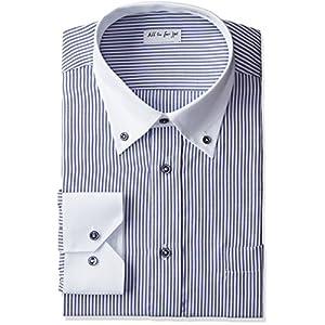 (アトリエサンロクゴ)atelier365 長袖 ワイシャツ クレリック メンズシャツ y-13-cl-st ストライプ L(41-83)スマート
