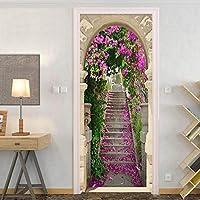 Xbwy カスタム写真の壁紙3Dステレオ桜階段壁画リビングルームの寝室のドアのステッカー牧歌的な家の装飾の壁紙3D-250X175Cm