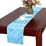 GGSXD テーブルランナー 小柄 ブルー猫 クロス 食卓カバー 麻綿製 欧米 おしゃれ 16 Inch X 72 Inch (40cm X 182cm) キッチン ダイニング ホーム デコレーション モダン リビング 洗える