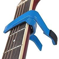 ワンタッチギター カポタスト ギターカポ - BestSoundsエレキギター・アコースティックギター用 (ブルー)