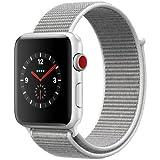 Apple Watch Series 3 42mm GPS+Cellularモデル MQKQ2J/A A1891 シルバーアルミニウム シーシェルスポーツループ スマートウォッチ アップルウォッチ