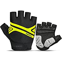 INBIKE Bike Gloves, Night Reflective|5mm Thick Pad Shockproof|Breathable Palm Protection Mountain MTB DH Road Riding Cycling Gloves Men Women