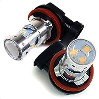 エスティマ 50系 LEDフォグランプ H11 ホワイト 30W バルブ 2個セット 純正交換 フォグライト