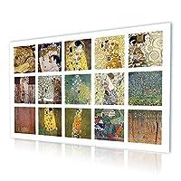 Alonline Art - Water Snakes Mother Embrace コラージュ 15 Gustav Klimt プリント キャンバス (100% コットン、フレーム無し マウントなし) 26インチx16インチ - 67x41cm キッチン 油絵 キャンバス リビングルーム アートワーク