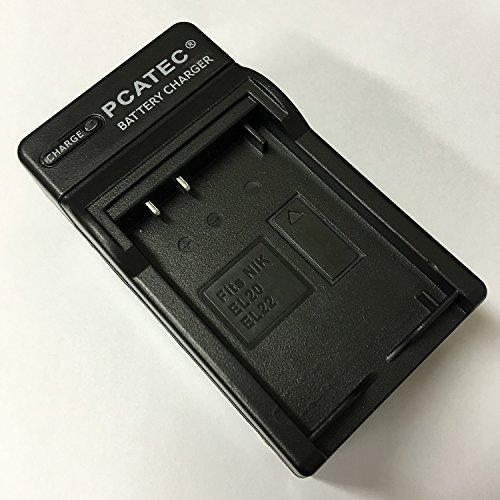 PCATEC NIKON EN-EL20/EL22対応互換急速充電器Nikon 1 J1/J2/J3/S1 /AW1/V3