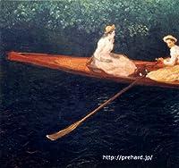 モネ 「エプト川の船遊び」 原画同縮尺近似(10号) monet-01-02