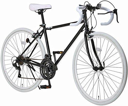 otomo(オオトモ) NEXTYLE (ネクスタイル) 前輪クリックリリース ドロップハンドル 700C ロードバイク シマノ21段変速[サムシフター] 2WAYブレーキシステム搭載 フレームサイズ470 ブラックホワイト RNX-7021
