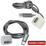 EcloudShop Xbox 360ワイヤレスコントローラーPC用USB充電ケーブル