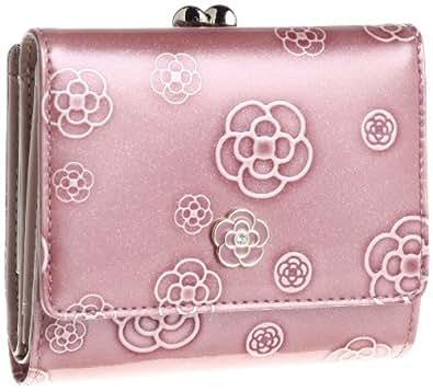 [クレイサス] CLATHAS アルゴ ランダムカメリア ガマ口折り財布  184682 37 (ピンク)
