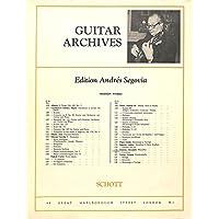 [冊子][楽譜]GUITAR ARCHIVES Andres Segovia No.116 Alexandre Tansman MAZURKA アンドレス・セゴビア