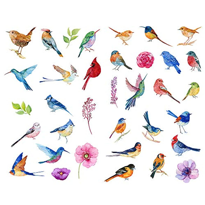 たくさん嬉しいです悲しいSeasonstorm キュートでカラフルな鳥 カワイイ 美的 ハッピープランナー 日記 文房具 スクラップブック ステッカー 旅行用アート用品
