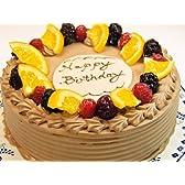 (お菓子工房ロリアン)お誕生日 生チョコケーキ 5号(直径15cm 高さ7cm)