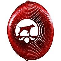 Vizsla Circle Swirly Metal Wind Spinner 2278