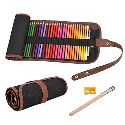 Sugoiti 色鉛筆48色 油性色鉛筆 塗り絵 描き用 収納ケース、鉛筆削り付き