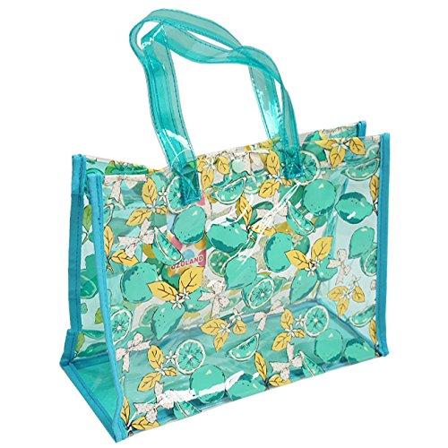 UZULAND(ウズランド) 女の子柄 スイムバッグ プールバッグ 水泳バッグ FREE グリーンレモン