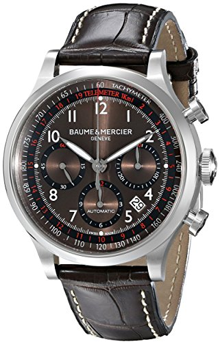 Baume & Mercierメンズbmmoa10043Capeland Analog Display Swiss Automatic Brown Watch